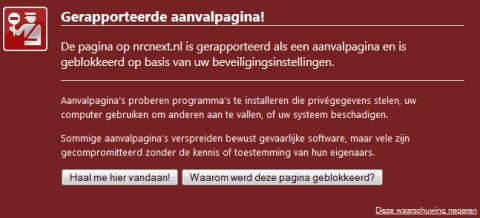 Website NRC.nl besmet bezoekers met trojan