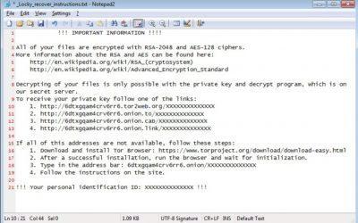 Locky Virus verwijderen en bestanden herstellen