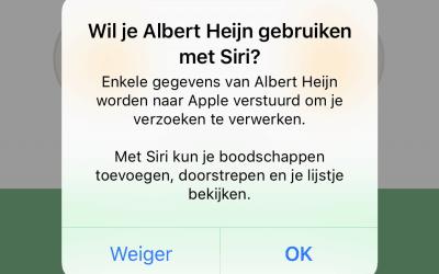 Welkom in 2018! Maak nu uw boodschappenlijstje met Siri.