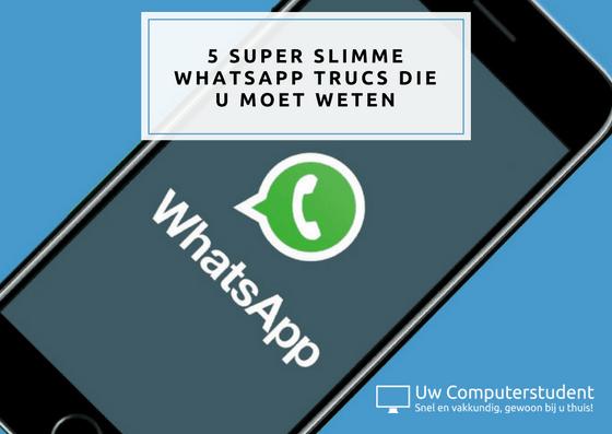 whatsapp trucs