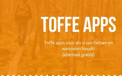 Toffe apps voor als u van fietsen en wandelen houdt!