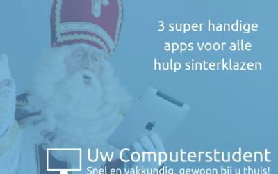 3 handige apps voor alle hulp sinterklazen