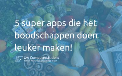 5 super apps die het boodschappen doen leuker maken!