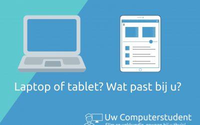 Eerste hulp bij keuzestress: moet ik een laptop of een tablet?